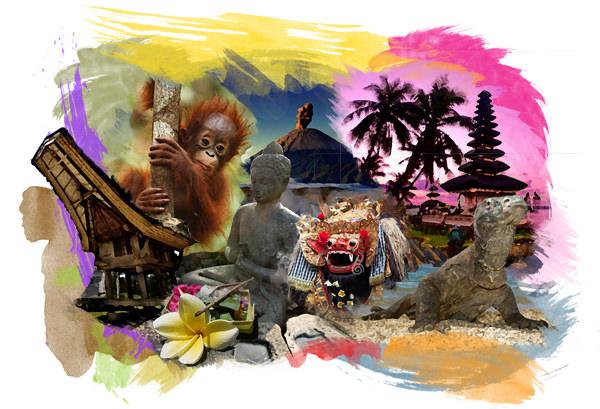 Reise durch Indonesien