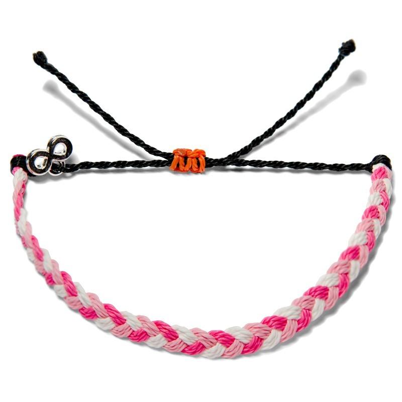 Brustkrebs Awareness - Perlen - Freundschaftsband