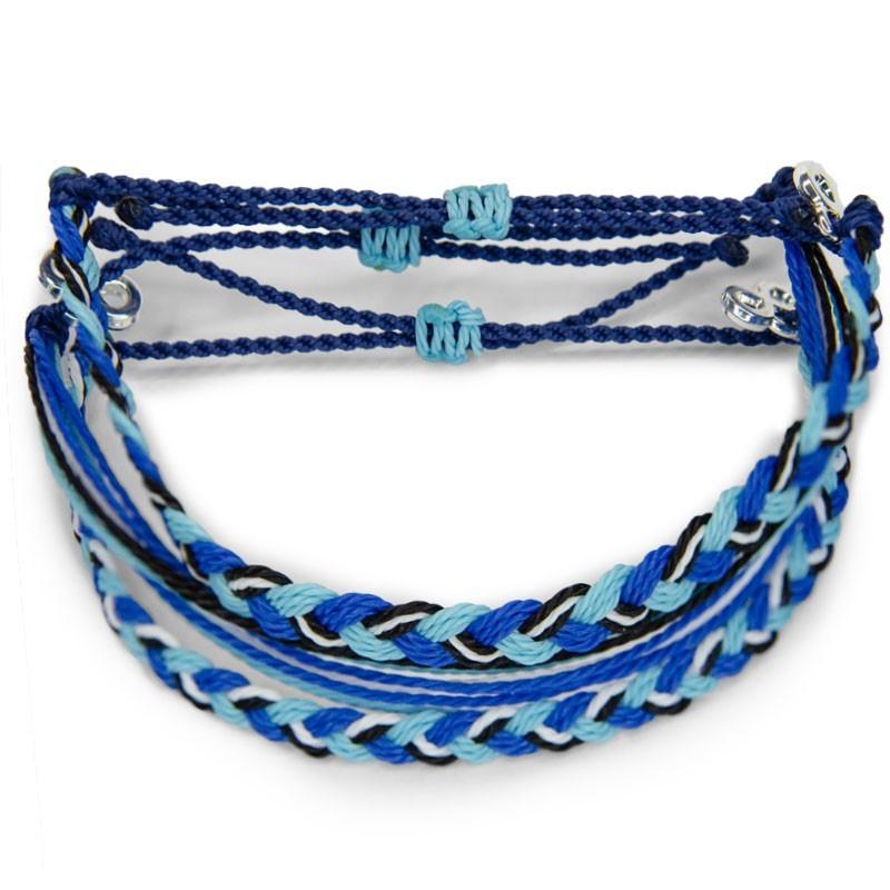 Navy Blue - ZickZack Perlenarmband